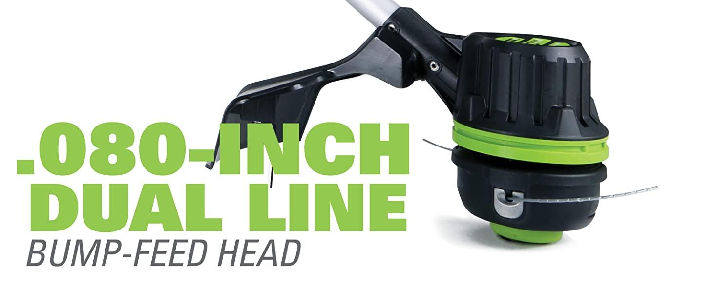 dual line bump feed head