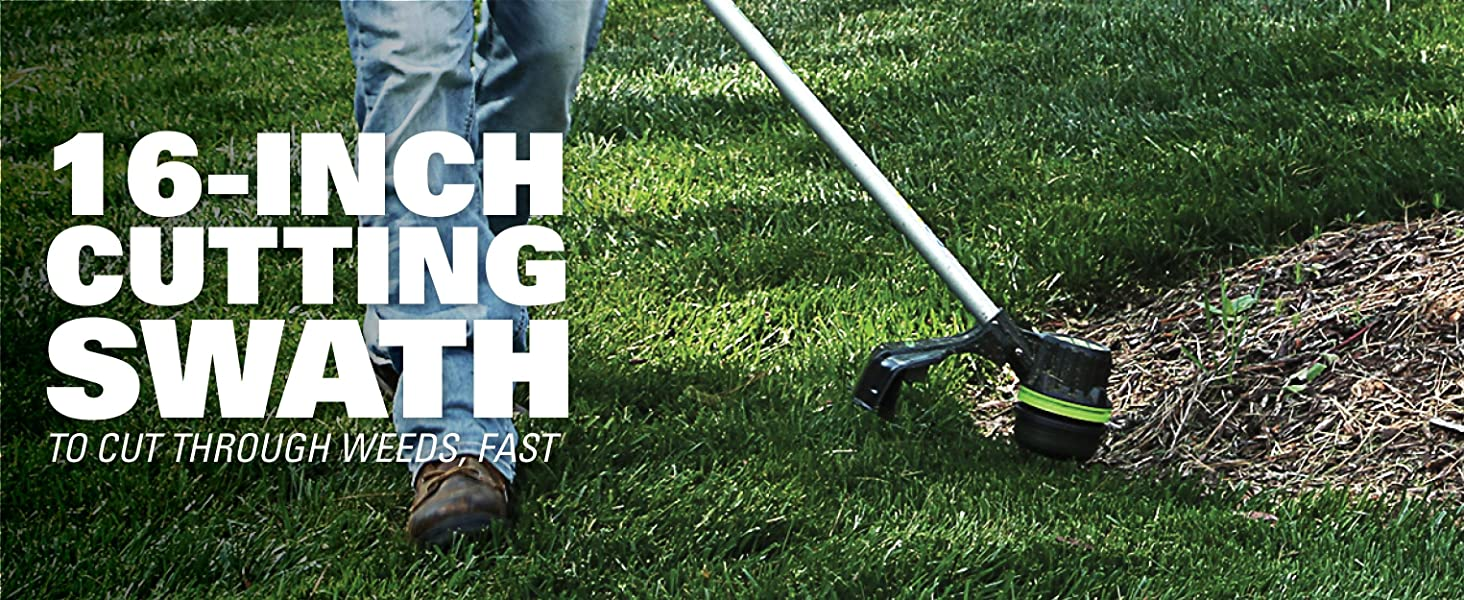 16 inch cutting swath