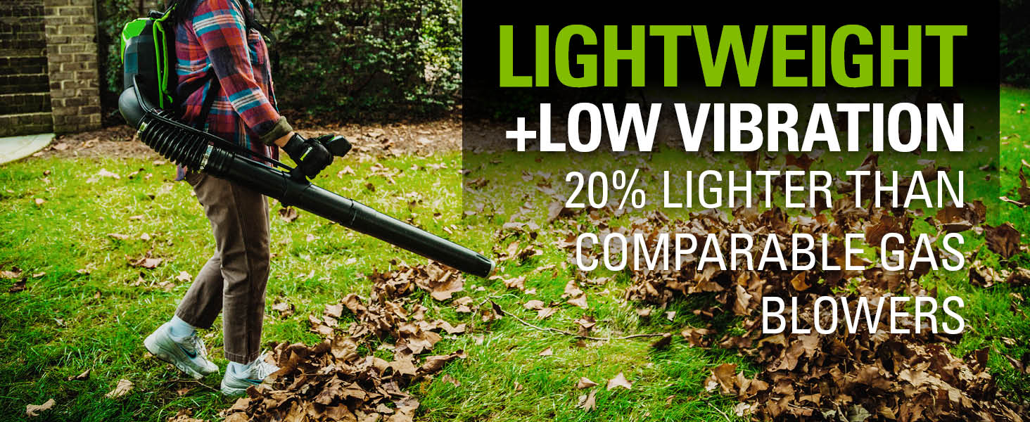 Light Weight back pack blower low vibration