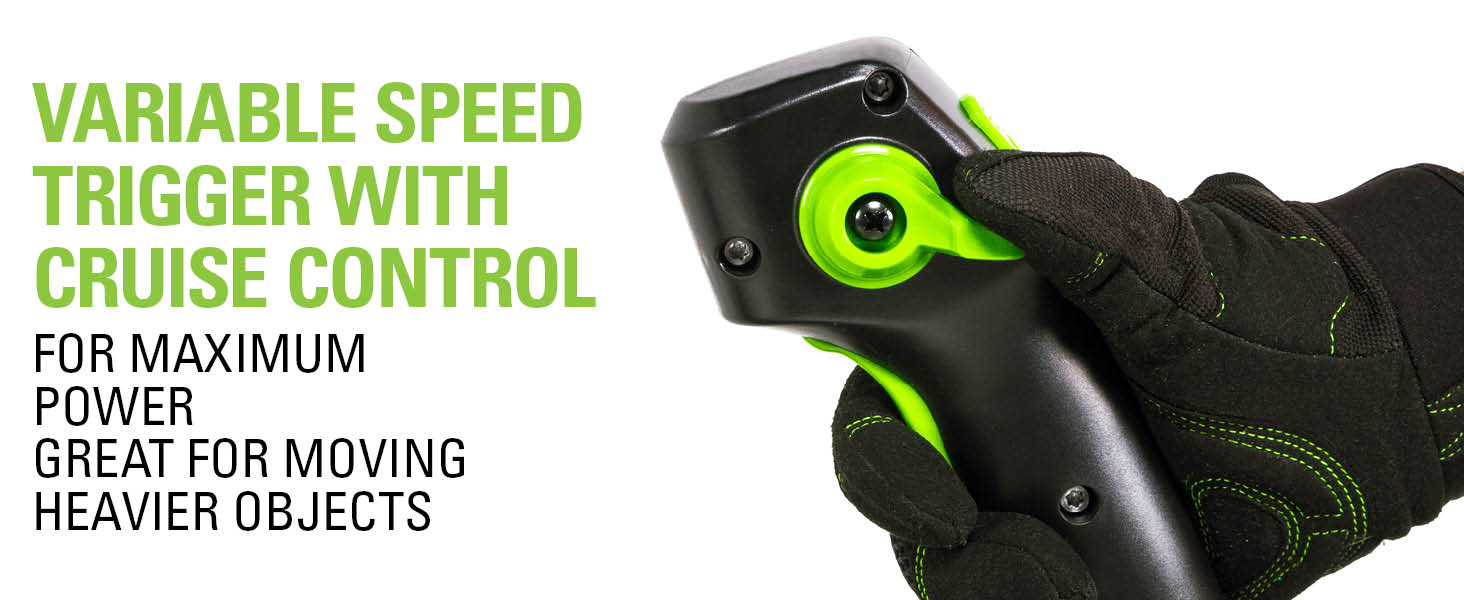 power on demand variable speed trigger cruise control
