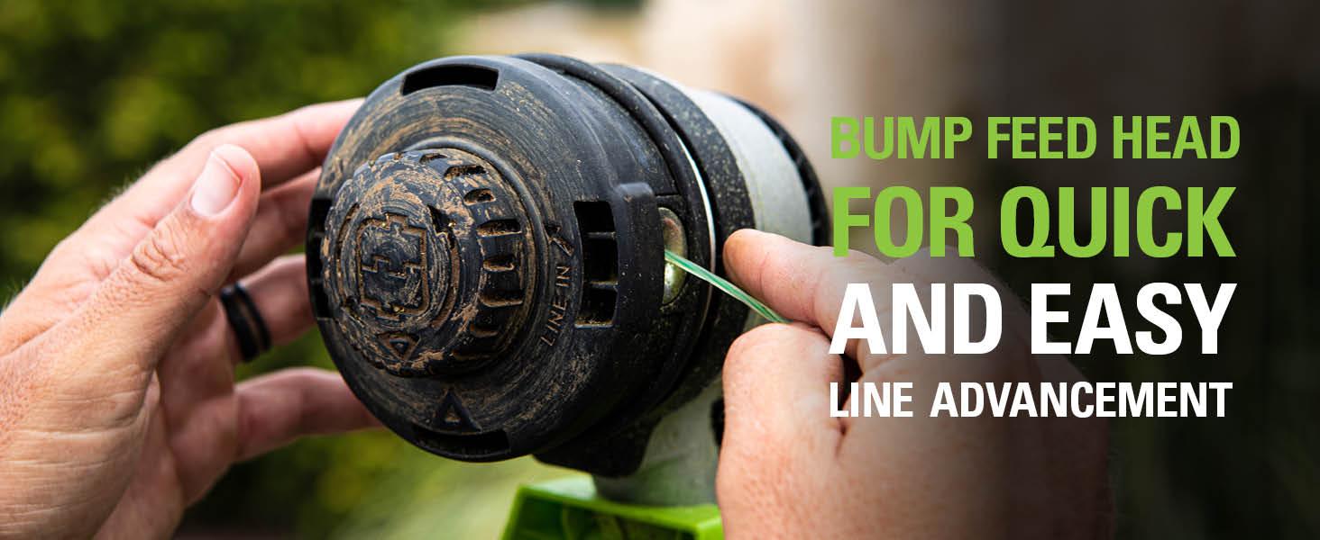 bump feed line advancement