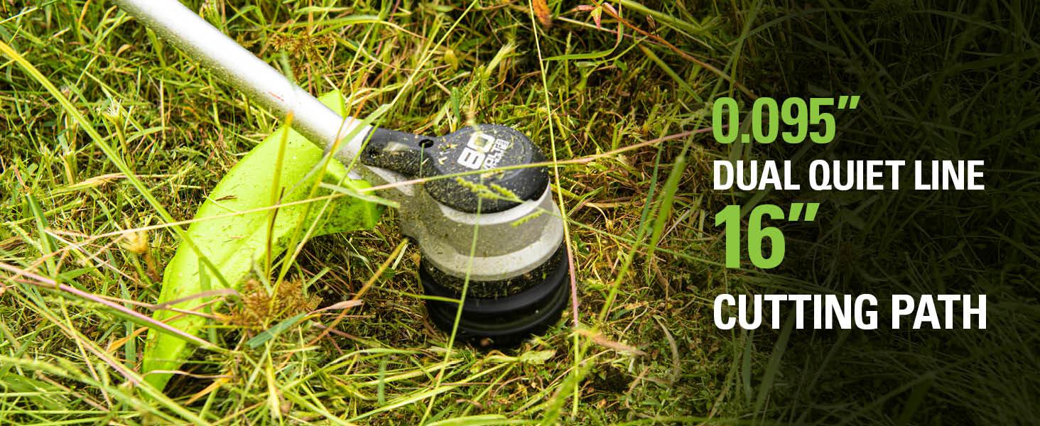 dual line 0.095 inch 16 inch cutting path