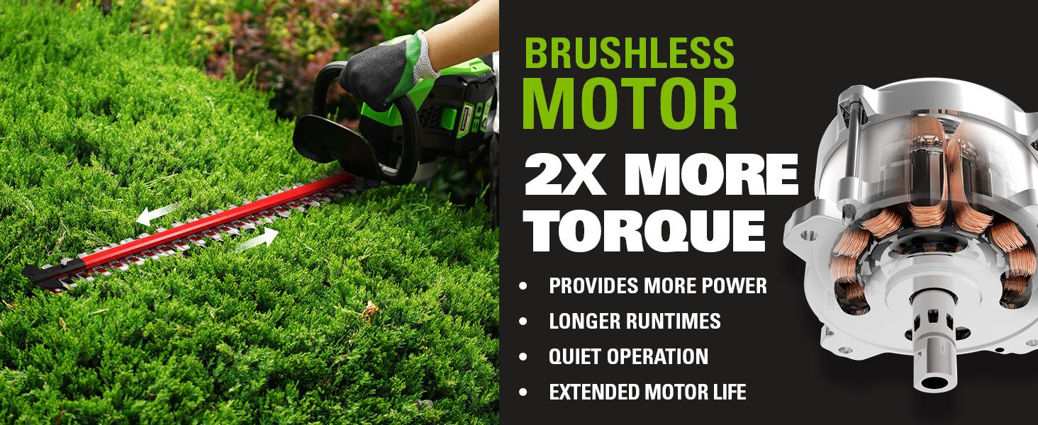 brushless motor 2x more torque