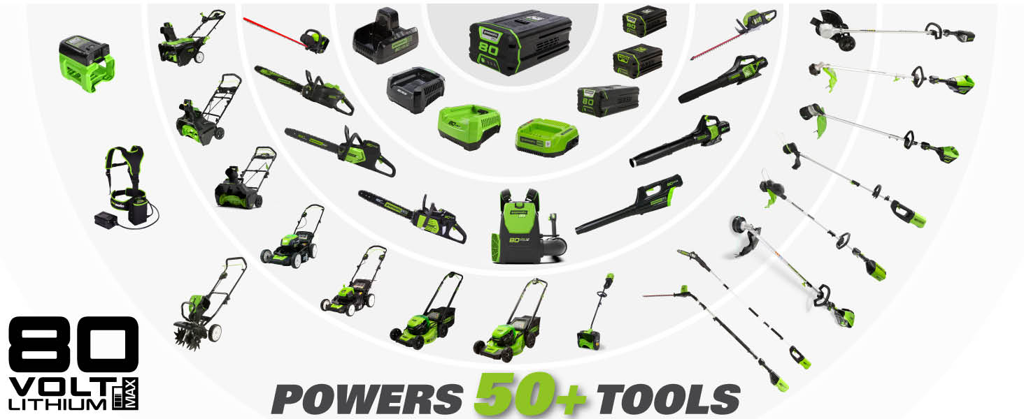 80v family mowers string trimmer hedge trimmer blower chainsaw