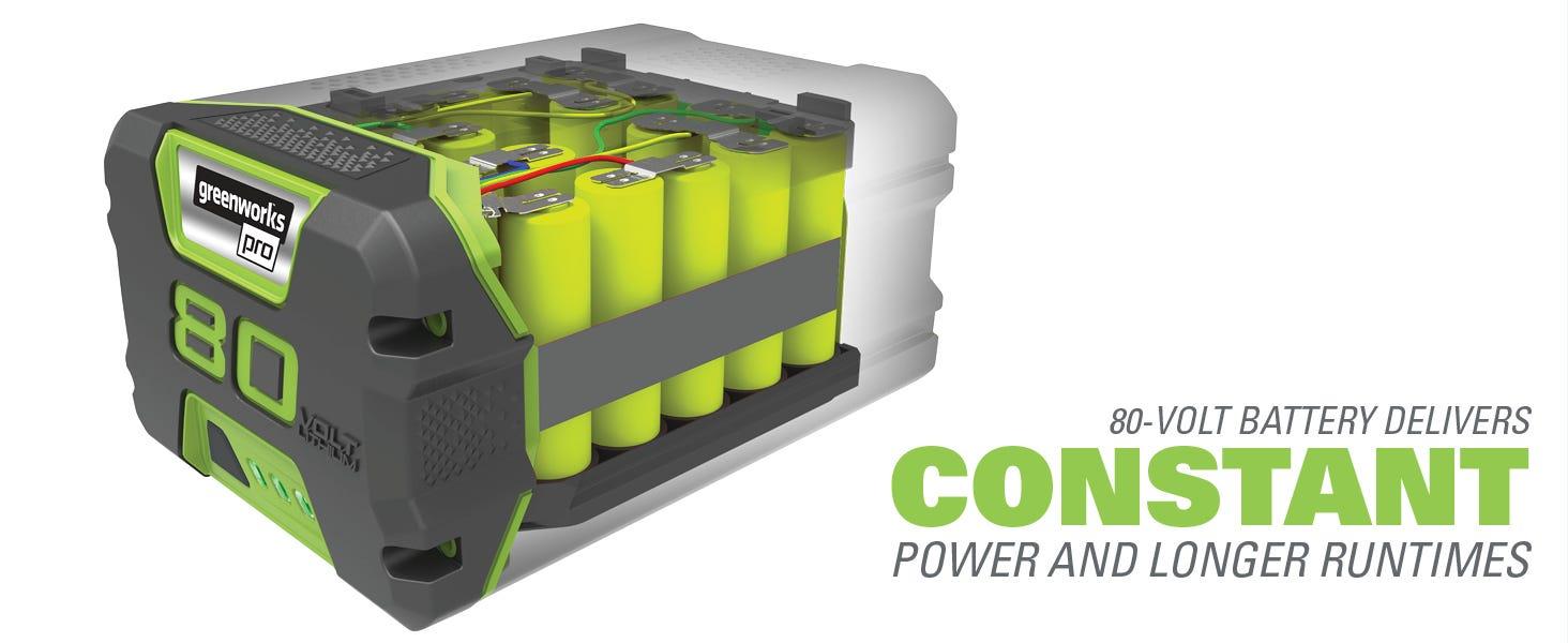 80v battery lithium ion longer runtimes