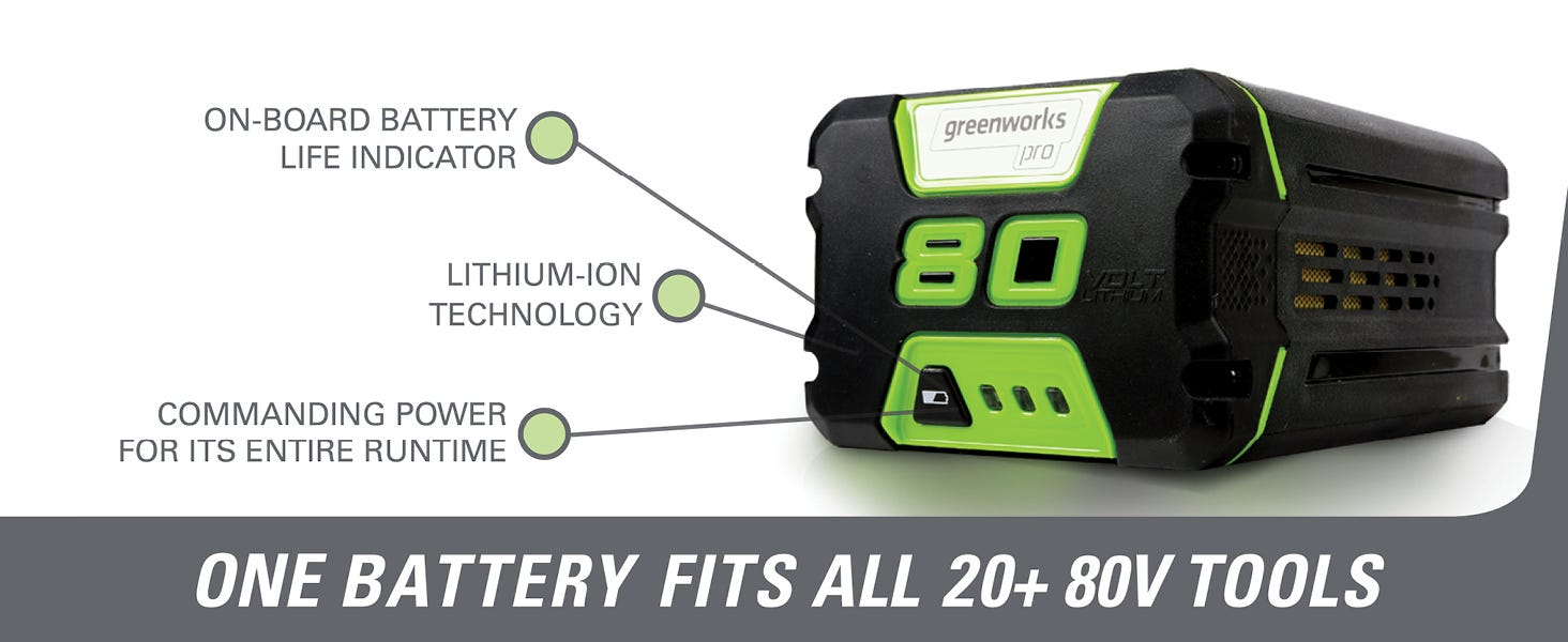 Greenworks 80V Lithium Battery