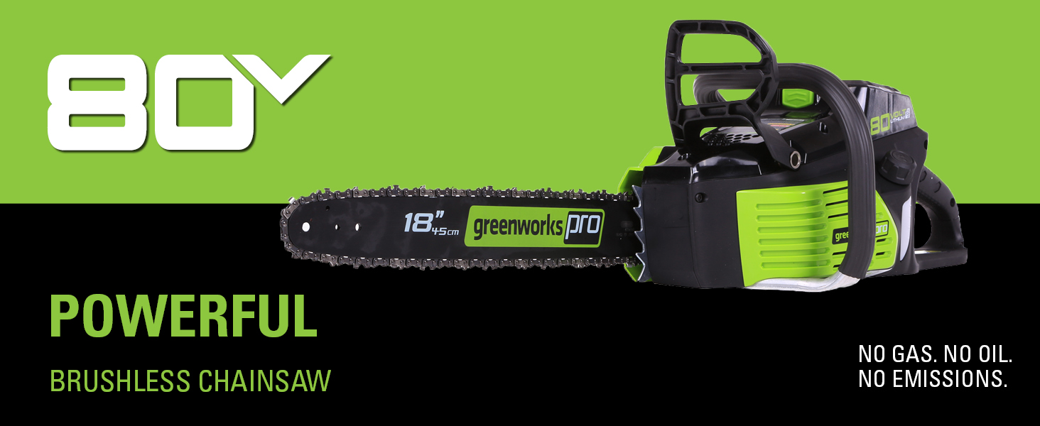 No Gas No Oil No Emissions Brushless Chainsaw