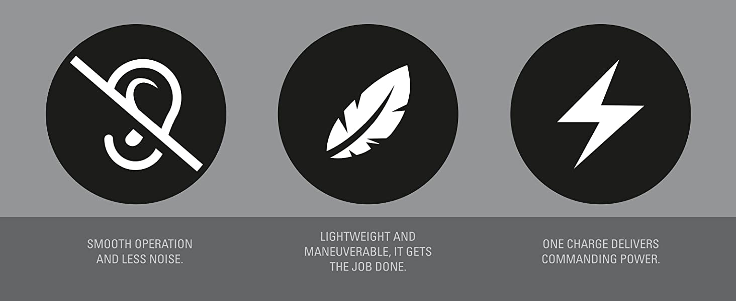 less noise light weight power