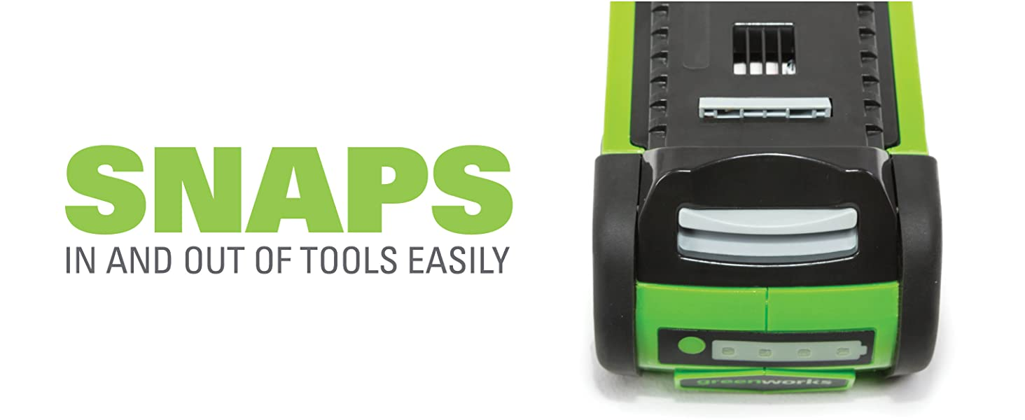 snaps in and out of tools easily
