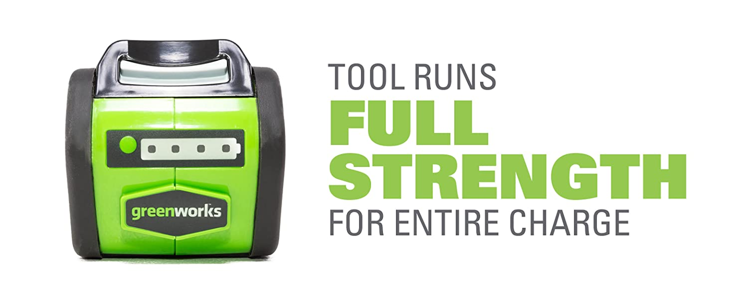 tool runs full strength for entire charge