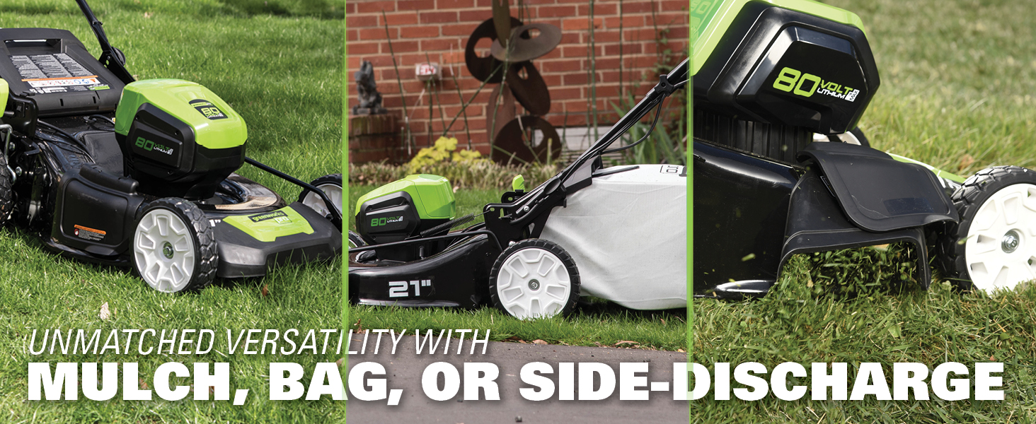 3-in 1 discharge mulch bagging