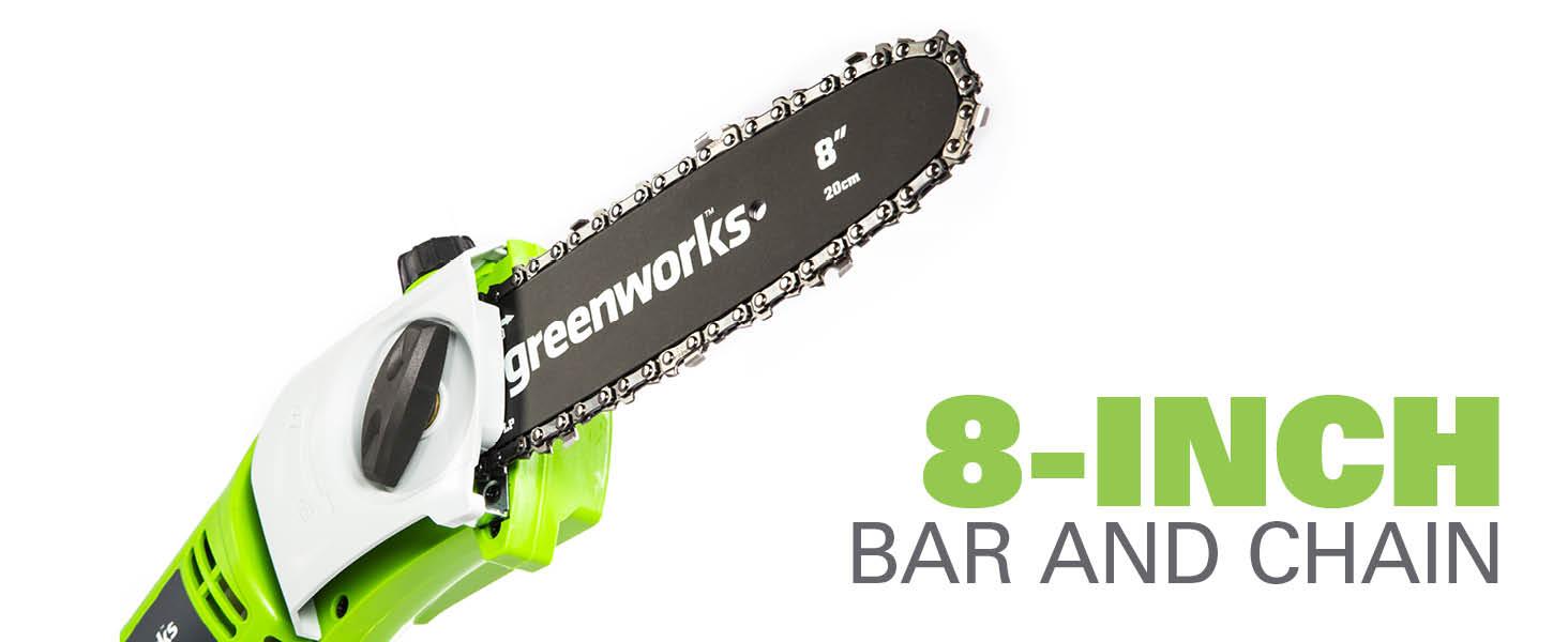 8 inch bar and chain