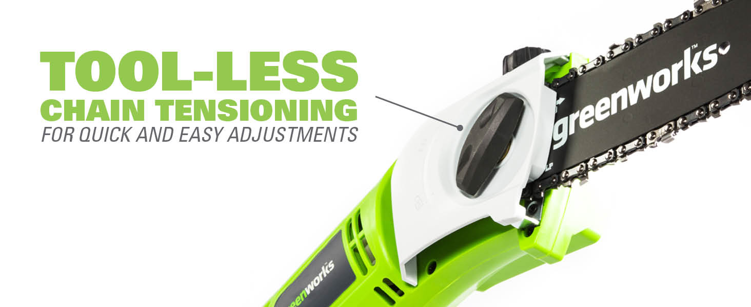 tool less chain tensioning