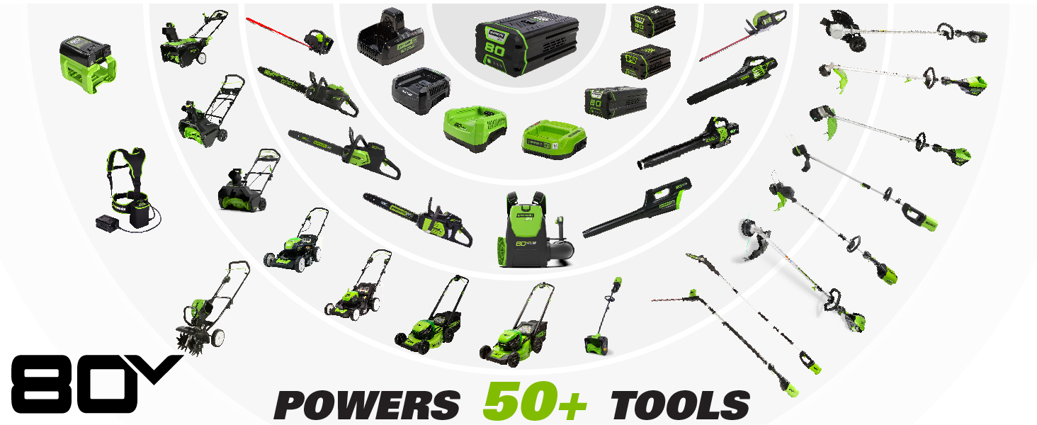 80V interchangeable power tools