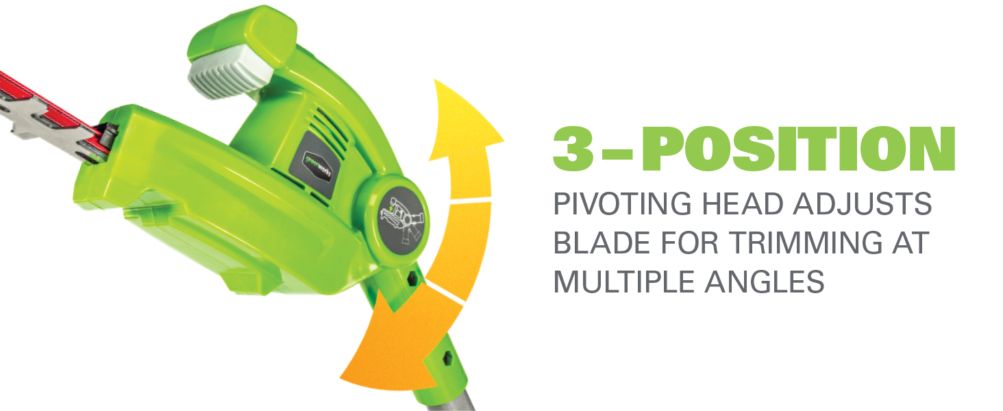 3-position pivoting head