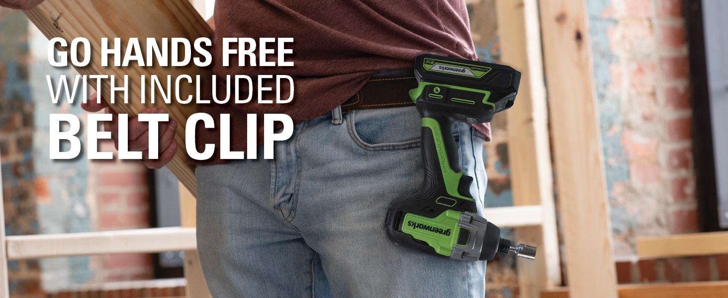 hands free belt clip