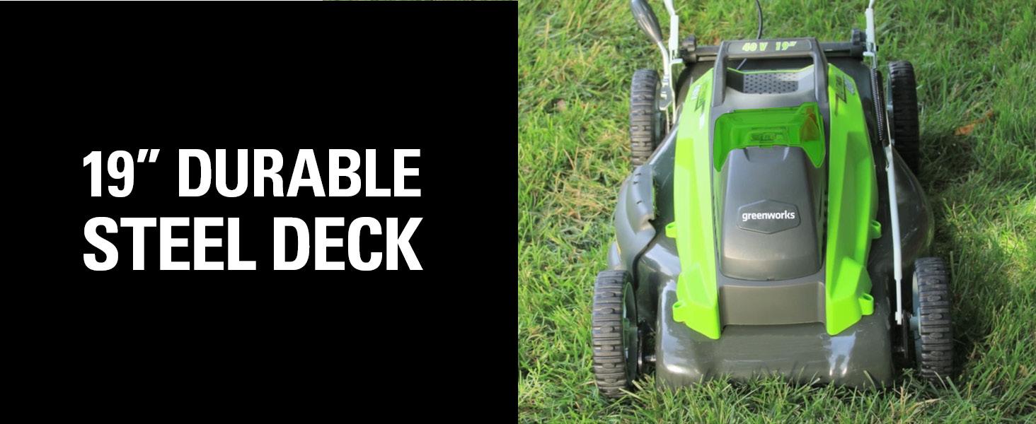 19 inch durable steel deck