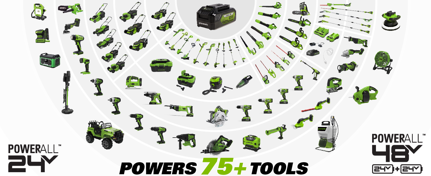 greenworks 24v powerall tools