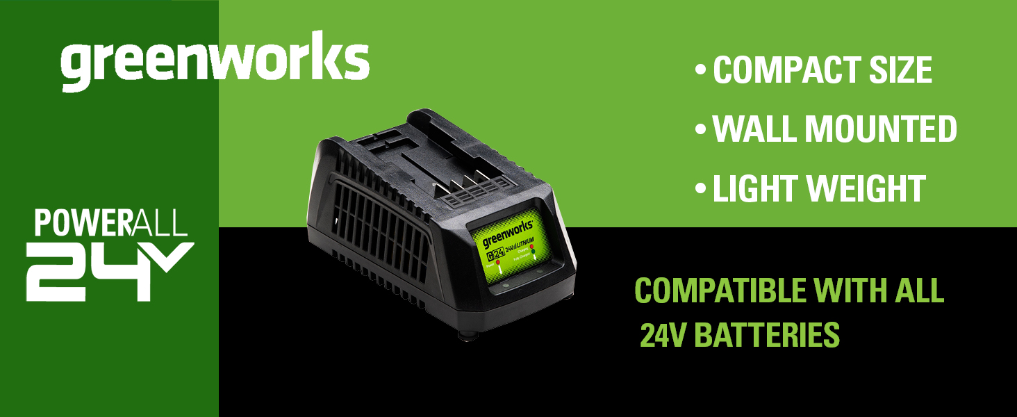 greenworks lightweight more power 24v lithium compatible with all powerall 24v tools
