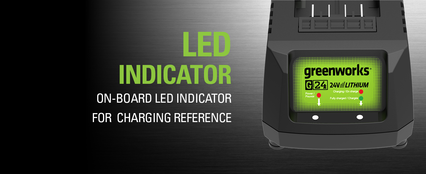 led indicator on board charging reference