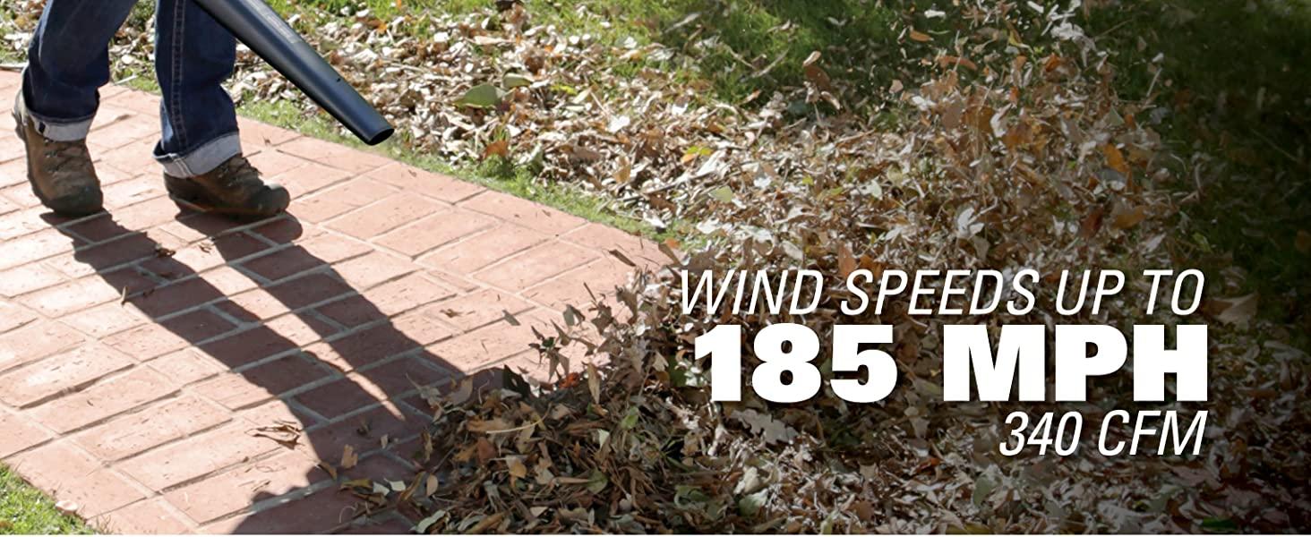 Wind Speeds Up To 185 MPH 340 CFM
