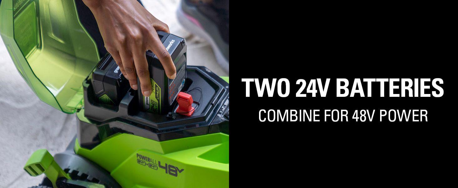 two 24v batteries combine for 48v power