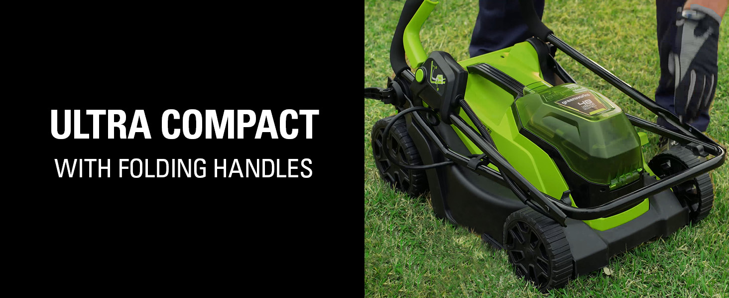 ultra compact with folding handles storage
