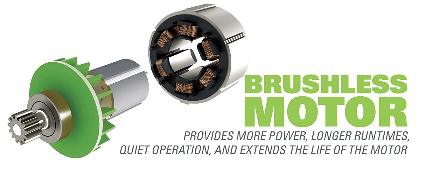 brushless motor more power longer runtimes quiet operation