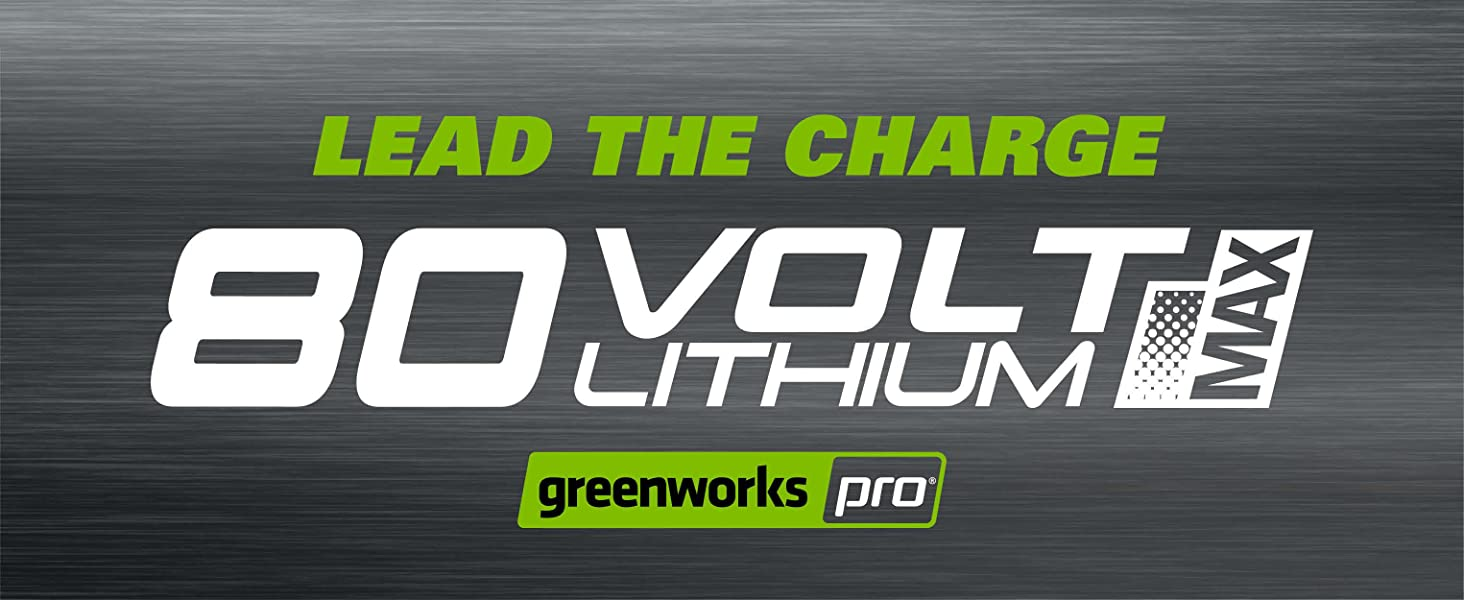 lead the charge greenworks 80v lithium