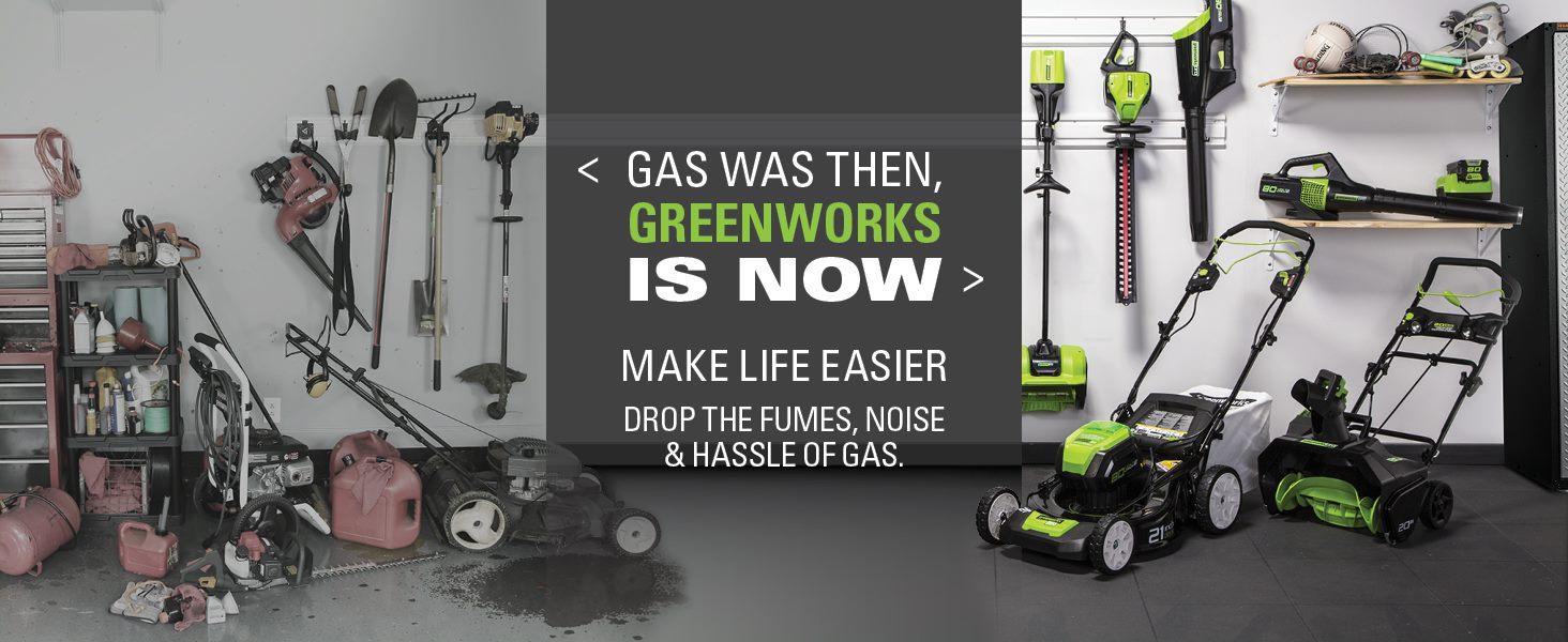 gas to greenworks no gas no oil