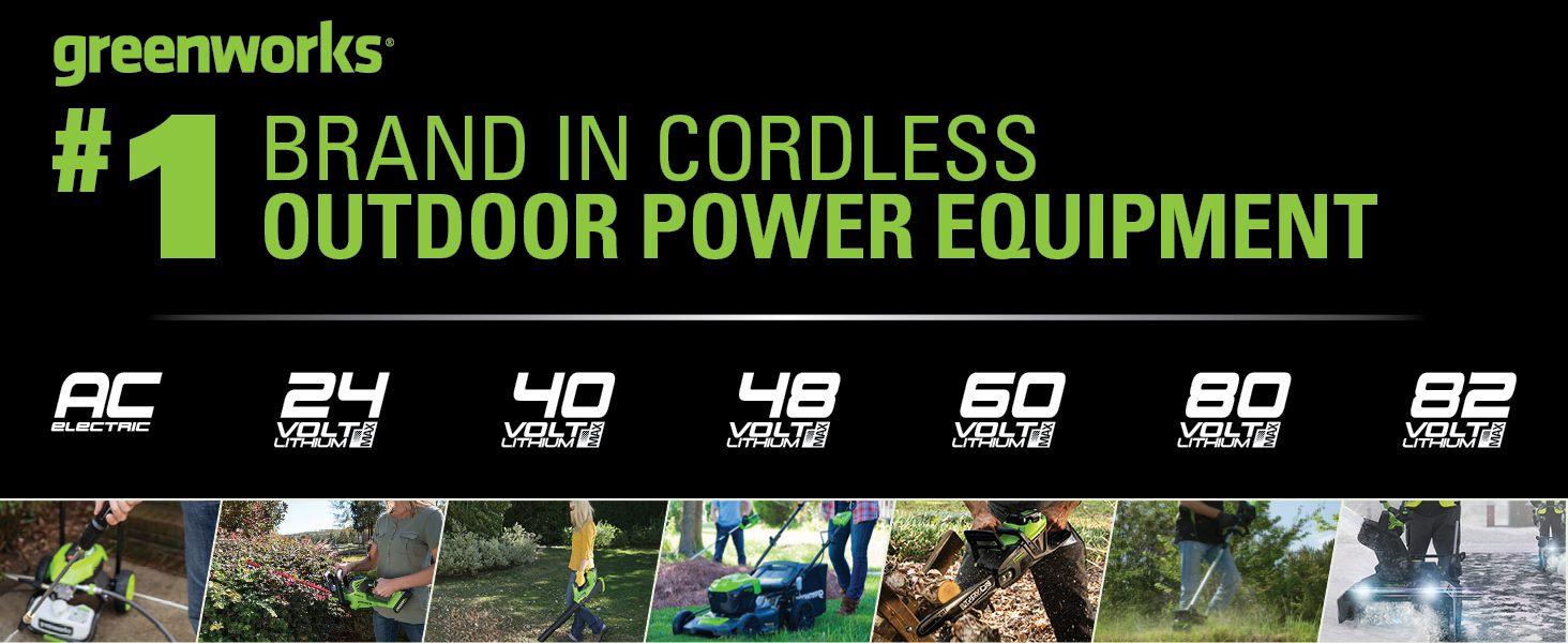 best brand in cordless equipment greenworks