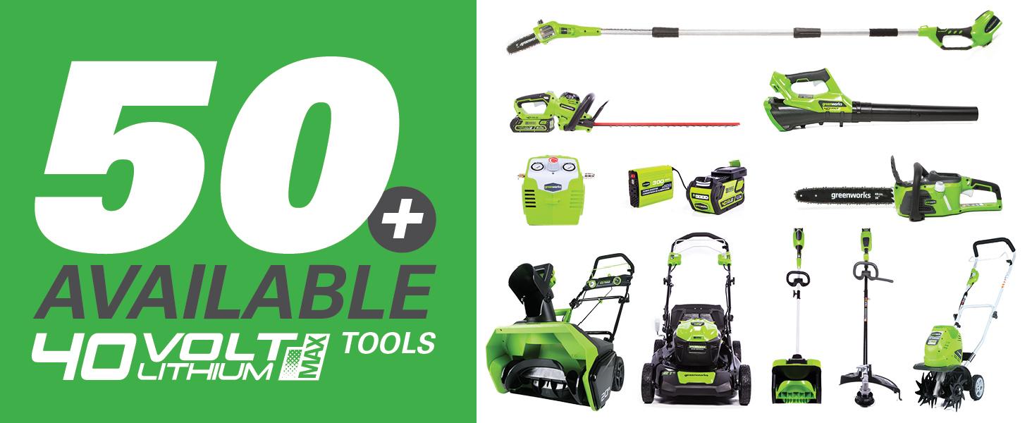 greenworks 40v lithium ion tools