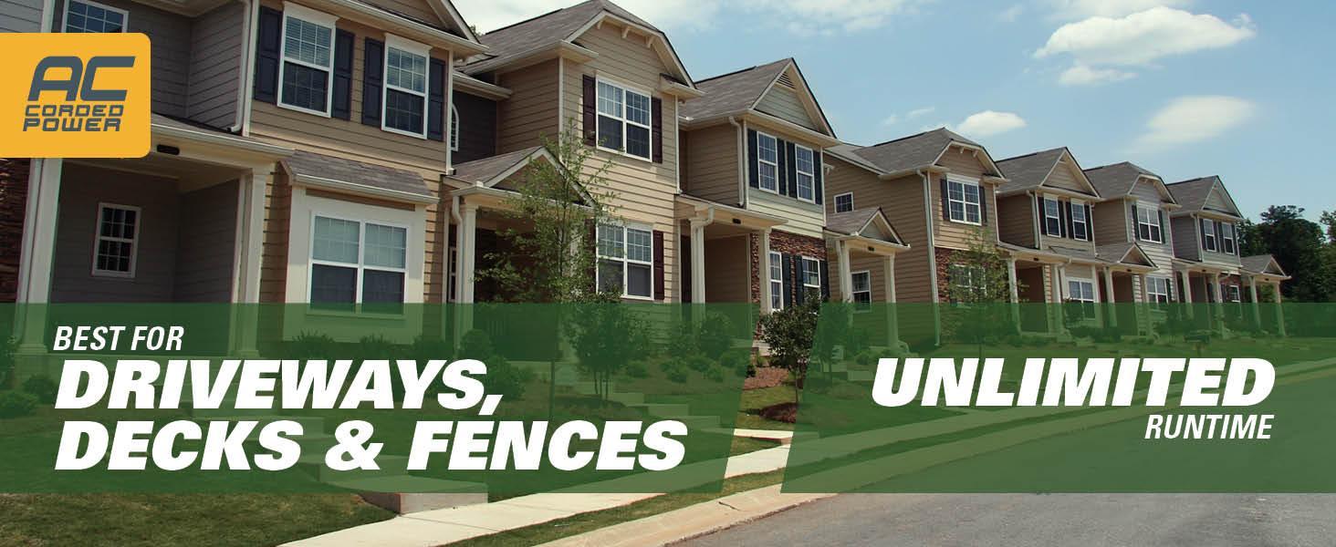 driveways, decks and fences