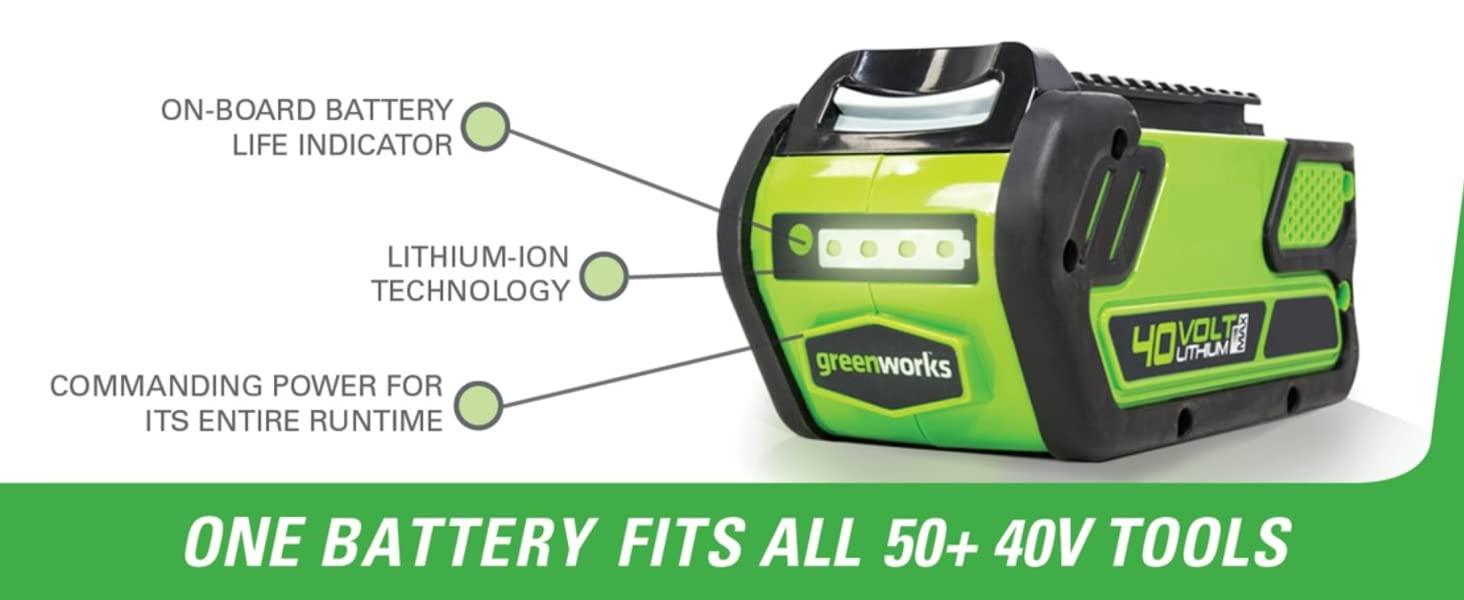 one battery fits all 40v greenworks