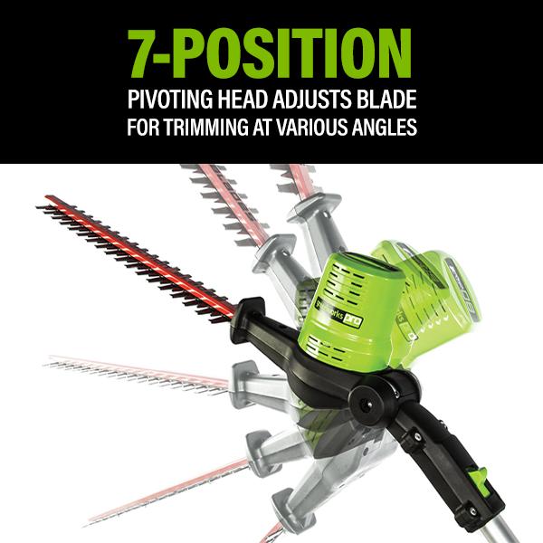 7 Position Pivoting Head