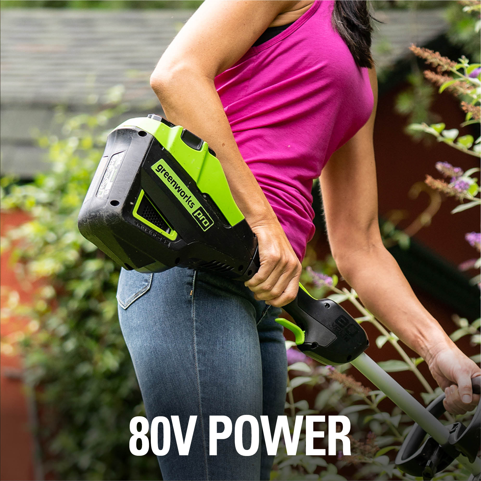 powered by 80v lithium ion battery motor