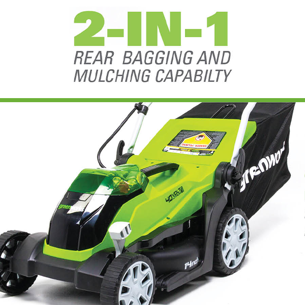 2-in-1 Rear Bag and Mulching