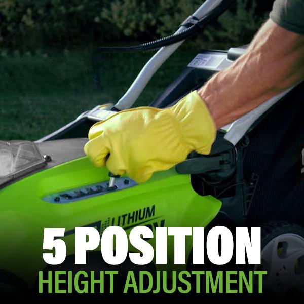 5 Position Height Adjustment