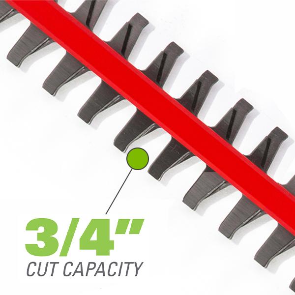 3/4 Inch Cut Capacity