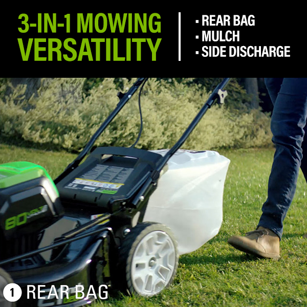 Rear Bag, Mulch & Discharge